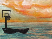Life of Pi Series - Richard Parker played by a basketball hoop