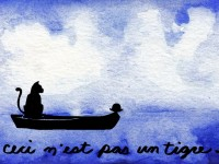 Life of Pi Series - Richard Parker played by a Tiger, Pi played by Rene Magritte's bowler.