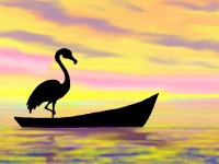 Life of Pi Series - Richard Parker played by a Flamingo