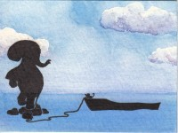 Life of Pi Series - Richard Parker played by a mouse, Pi played by an elephant.