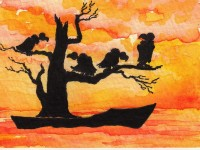 Life of Pi Series - Richard Parker played by a tree full of Vultures