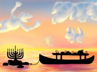 Life of Pi Series - Richard Parker played by a Thanksgiving Feast, Pi played by a Chanukah Menorah