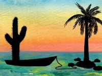 Life of Pi Series - Richard Parker played by a Saguaro Cactus, Pi played by a Coconut Palm