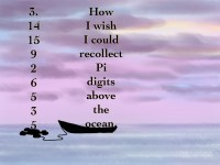 Life of Pi Series - Richard Parker played by a Mnemonic for the first 10 digits of Pi, Pi played by the first 10 digits of Pi.